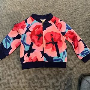 NWT Gymboree Floral Bomber Jacket 12-18M